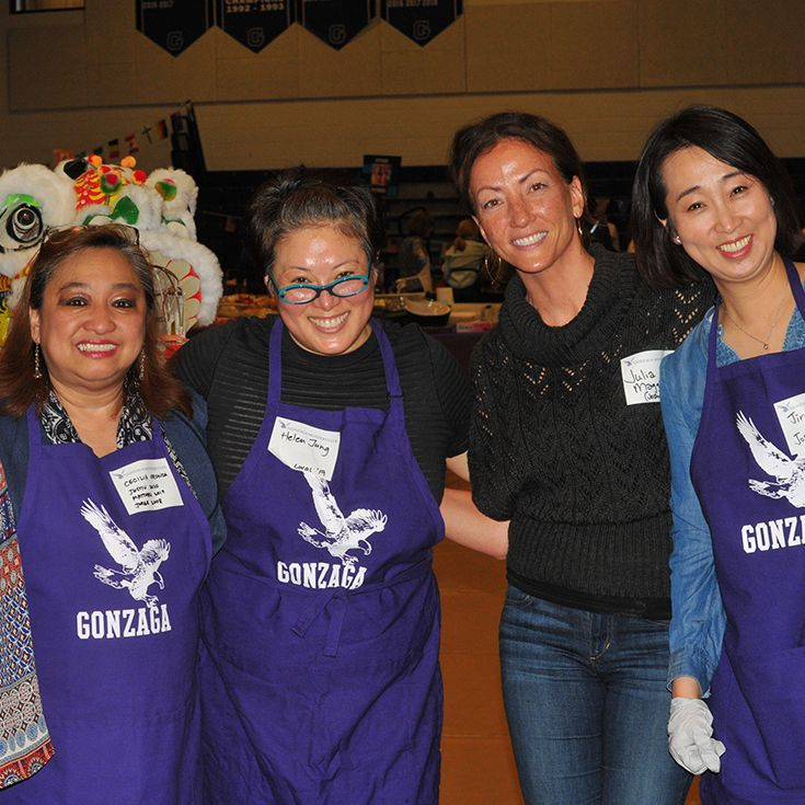 The International Food Fair is a beloved schoolwide event that celebrates the Gonzaga community's cultural diversity—and wouldn't be possible without volunteer help from the GMC.