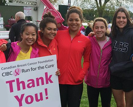 Supporting the Run for the Cure