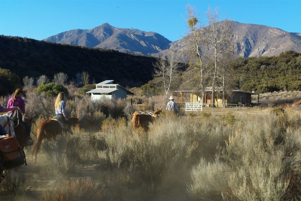 This restored homesteader's cabin, located a day's ride over the ridge from campus, serves as a way station for Thacher backpackers and horse campers exploring the Sespe.