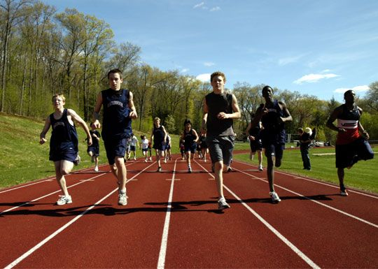 The Lewis Track and Field is a six lane all-weather regulation track that surrounds a regulation size playing field.