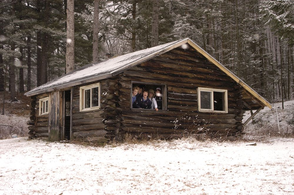 Kipling Cabin, named for author Rudyard Kipling, one of the many cabins on the school campus
