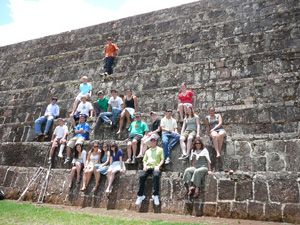 19 LWHS Spanish students spent three weeks in Mexico. They visited the Tzintzuntzan archeological site.