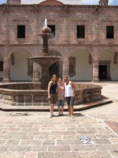 Students spent 18 days with host families in Morelia, Michoacan, and had three hours of Spanish instruction a day. They toured museums and religious sites, including Palacio Clavijero.