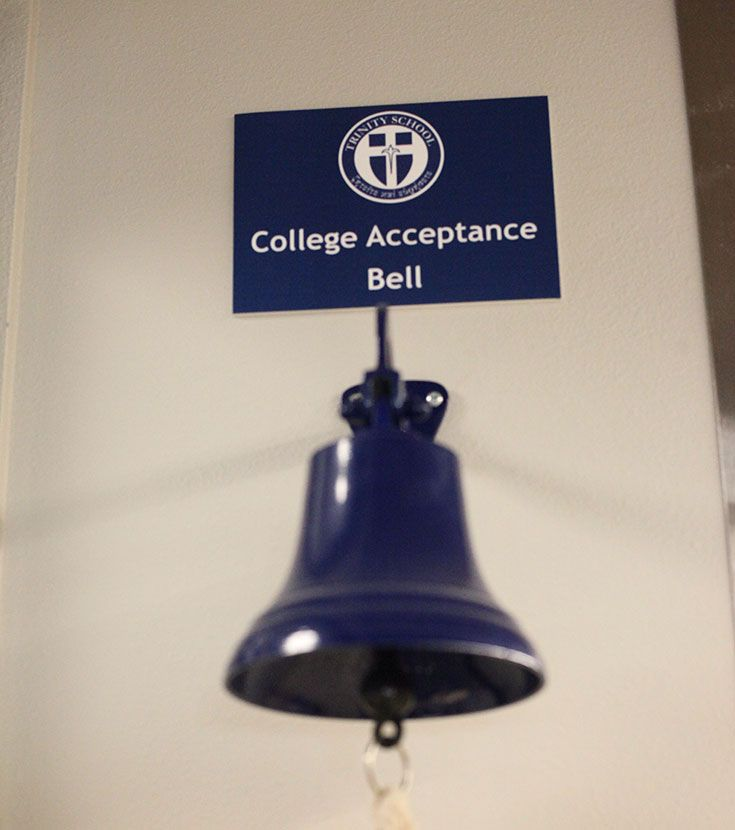 College bell that Trinity School of Midland students ring when accepted into college.