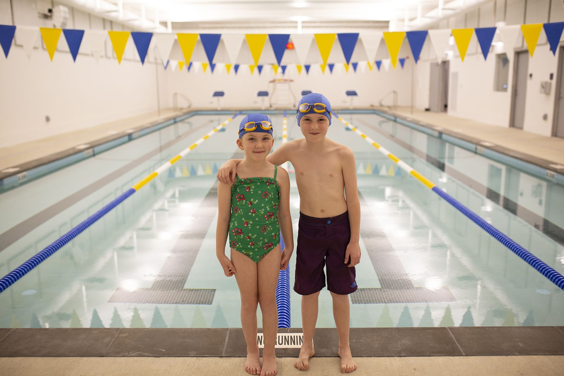 Every Lower School student learns how to swim in our own 25-yard pool, opened in 2019..