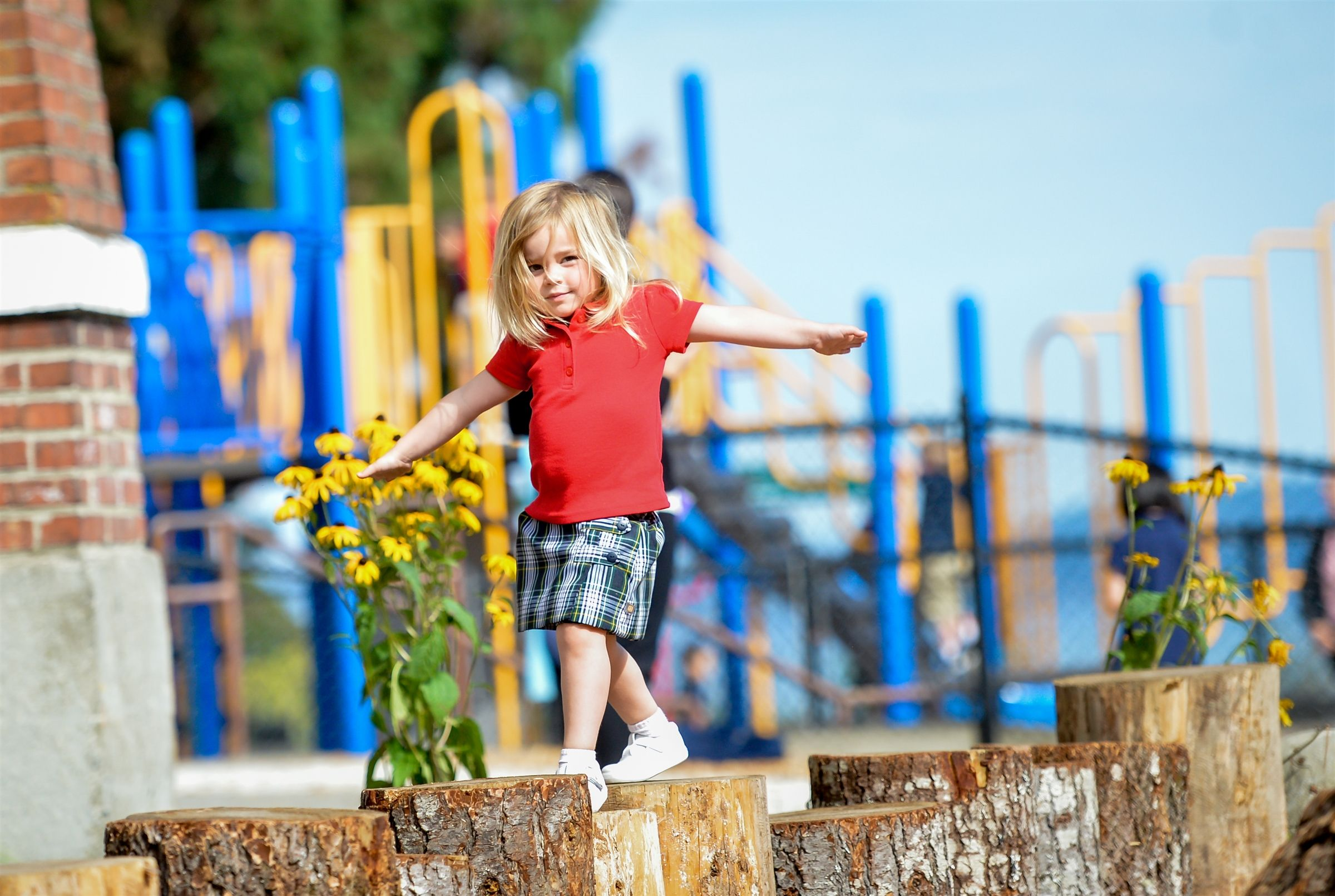Annie Wright's playground combines fun play structures with imaginative natural spaces and has the best view in town!