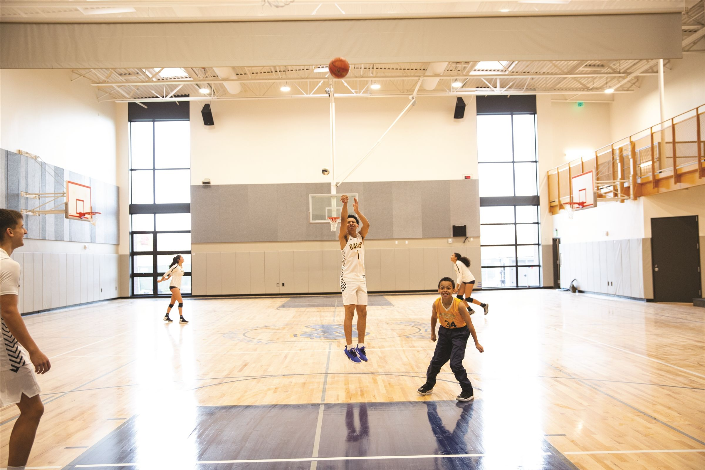 Athletes of all ages and abilities exercise, play, practice and compete in our three gyms.