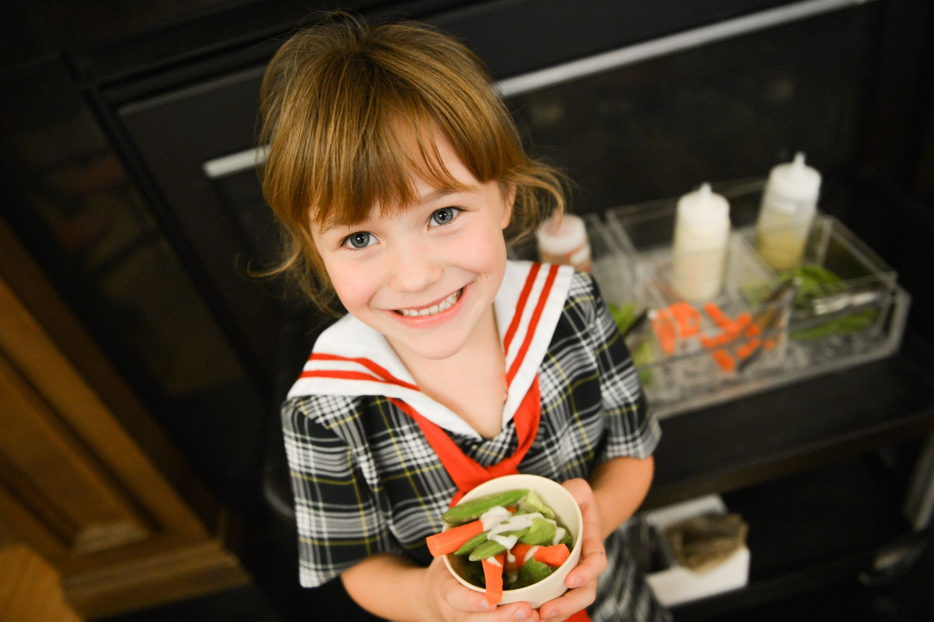 A mini salad bar offers our younger students appealing options.