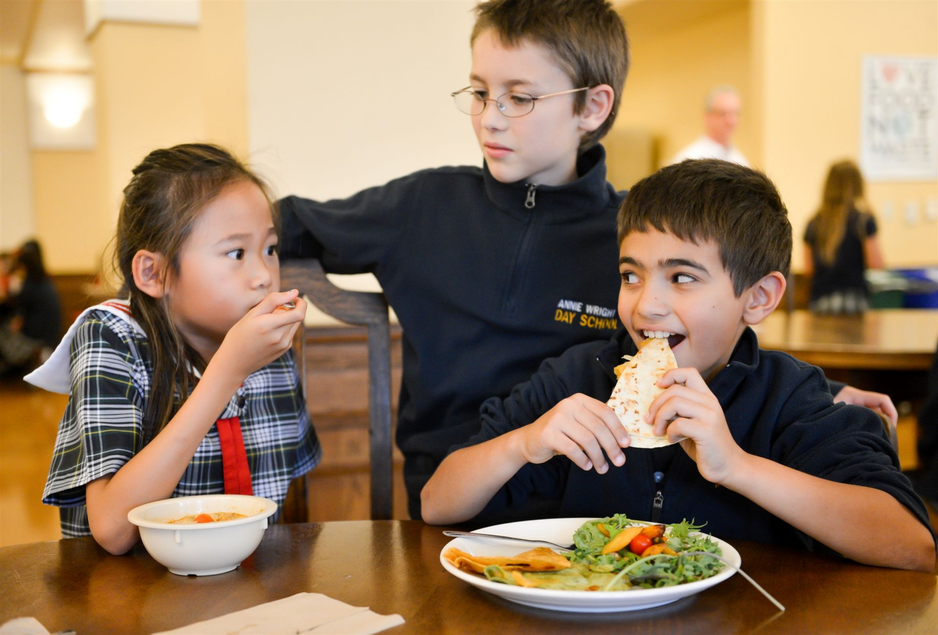 Students can choose from a range of options for lunch.