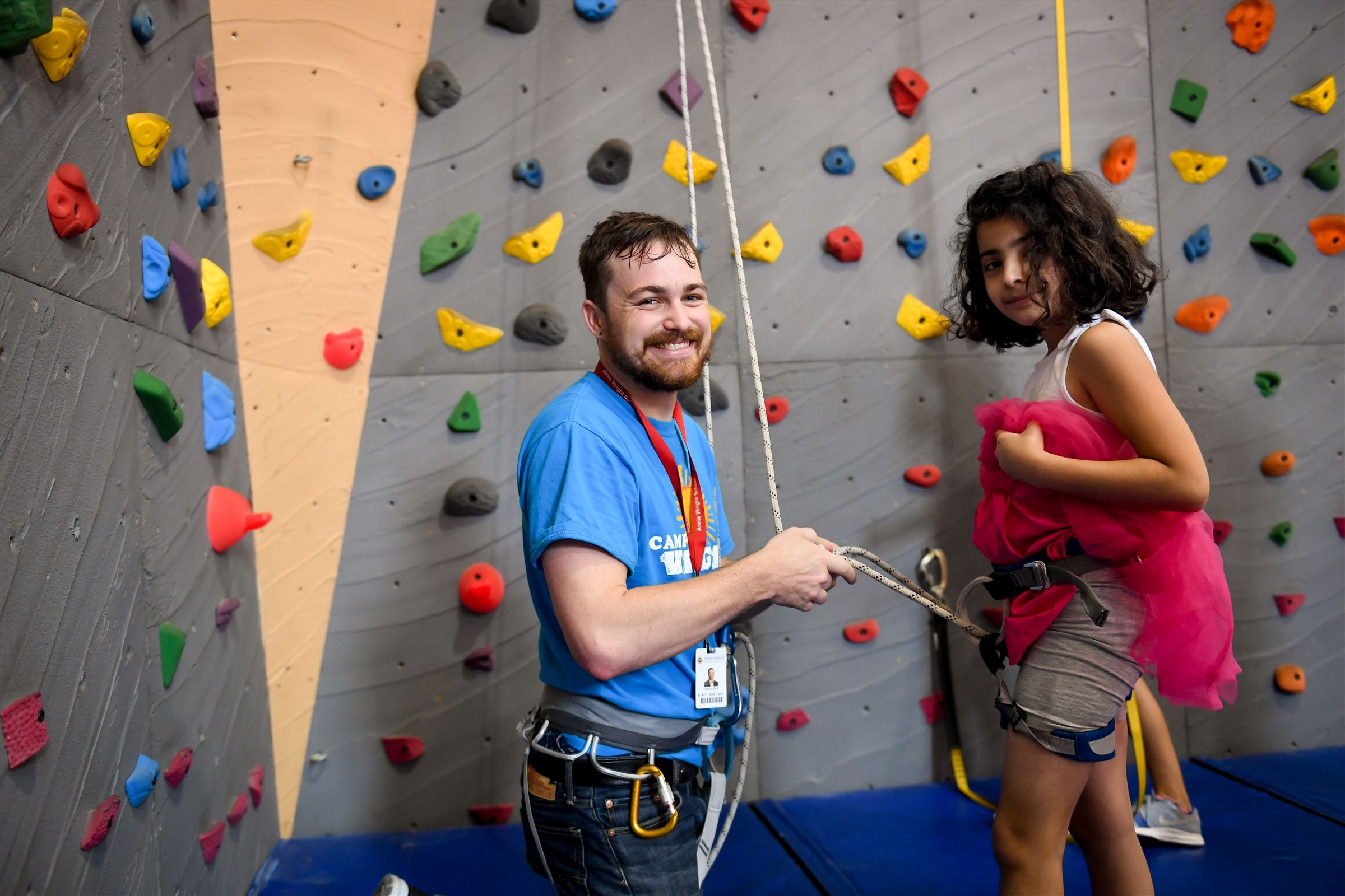 All campers have the opportunity to use our climbing wall, located in our small gym.