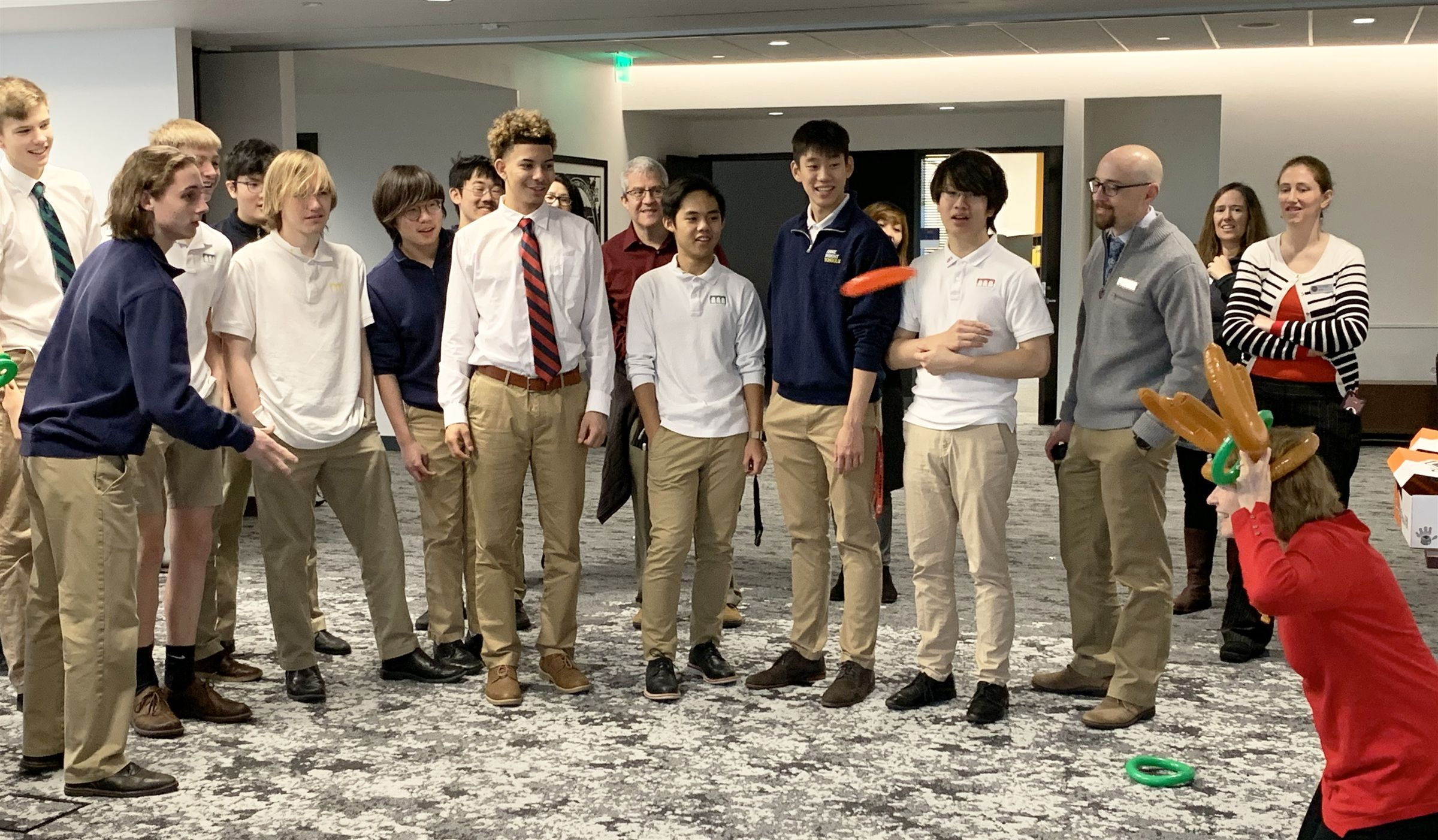 In addition to a range of opportunities beyond the classroom, the Upper School for Boys makes time for relaxation, fun and games (even with their administrators and teachers!).