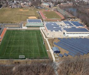 Turf field and Athletic Center.