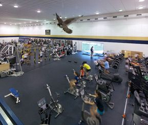 "Located in Peddie's Ian H. Graham '50 Athletic Center, the fitness center holds 6,900 square feet of free weights and aerobic equipment with 900 square feet of turf for speed and agility workouts. Highlights of the fitness center's state-of-the-art equipment include free motion ""health club style"" strength machines, 4 abdominal/lower back benches, a TRX ""Swing Set"", Keiser Triple Trainer, and spin bikes."