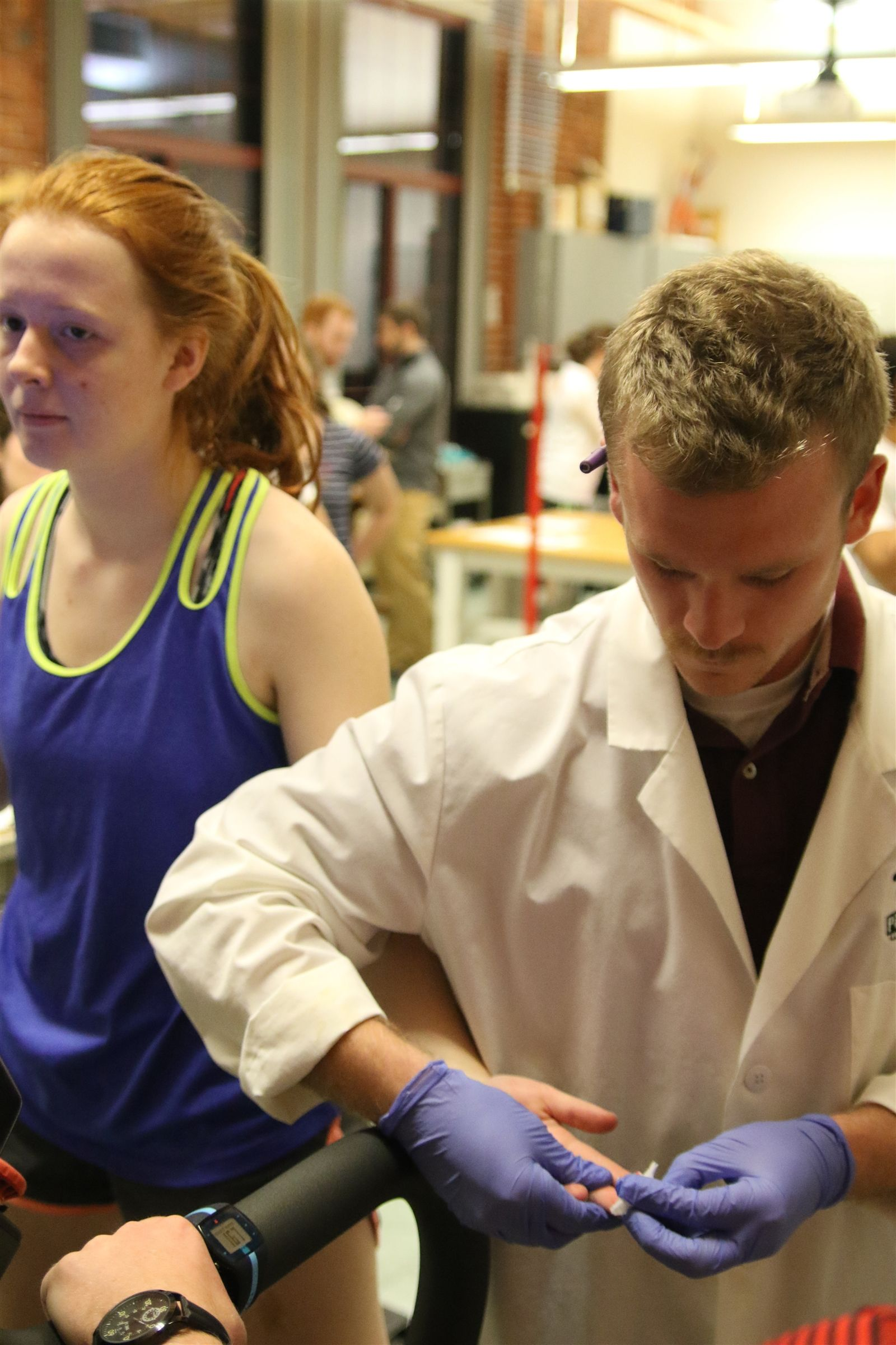 Conducting a Lactic Acid Test at PSU's Human Performance Lab