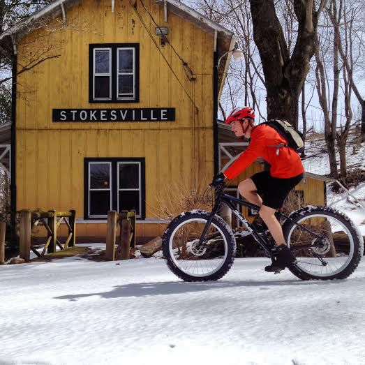 Jeremey Batchelder: Studying maps, planning trails, and mountain biking with Chris Scott @stokesvillelodge in Virginia.