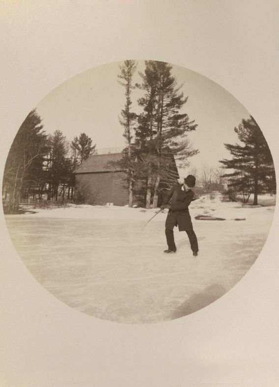 The Reverend James P. Conover (SPS 1876, master 1882-1915) is credited with transporting the sport of ice hockey from Canada to SPS and the U.S., along with a square, leather-covered puck.
