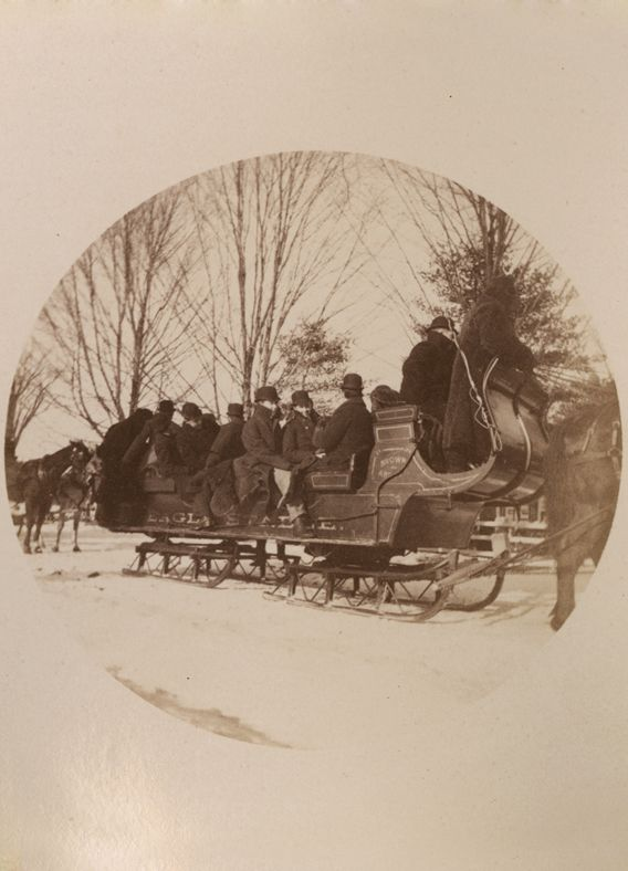 "The March 18, 1890, Horae Scholasticae reported: ""As soon as Chapel was over, the large sleighs and cutters, which were to carry a large party to [Canterbury] Shaker Village, drew up in front of the Study."""