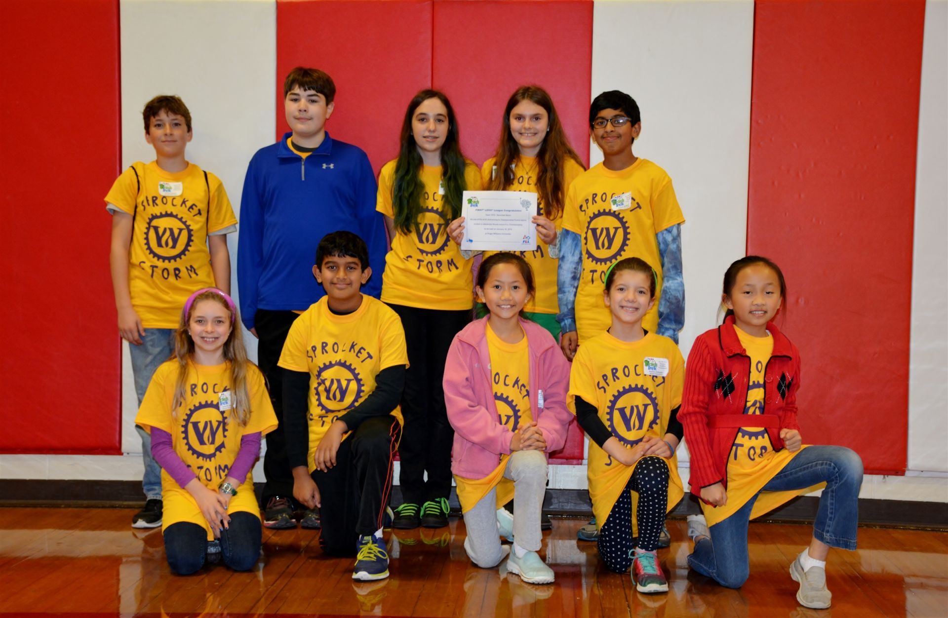 Sprocket Storm 2015 in the First Lego League for Lower and Middle Schools