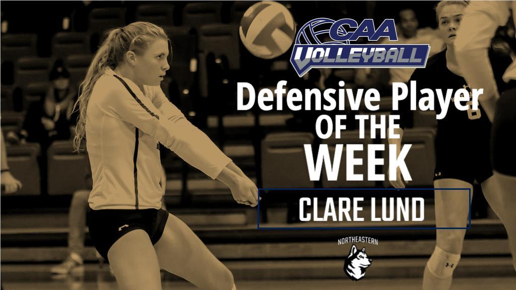 <h4>September 2019</h4><h6>Clare finished with a career high of 29 digs in win against Seton Hall.</h6>