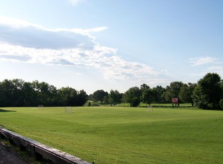 Wright Field extends from the tennis courts to Woody's Pond.