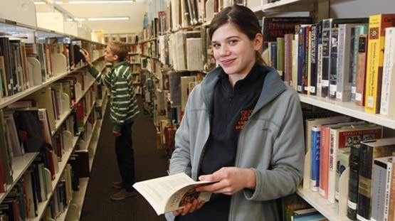 The EC library supports the academic work of our students and faculty.