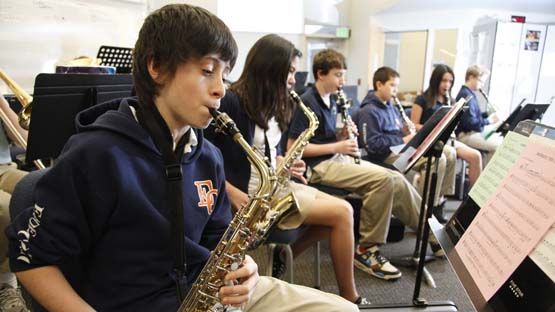 At EC, you can play in the marching band, orchestra or regular band.