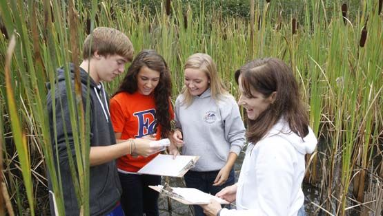 Surrounded by forest and wetlands, our 50-acre campus provides a one-of-a-kind environment for science exploration and observation.