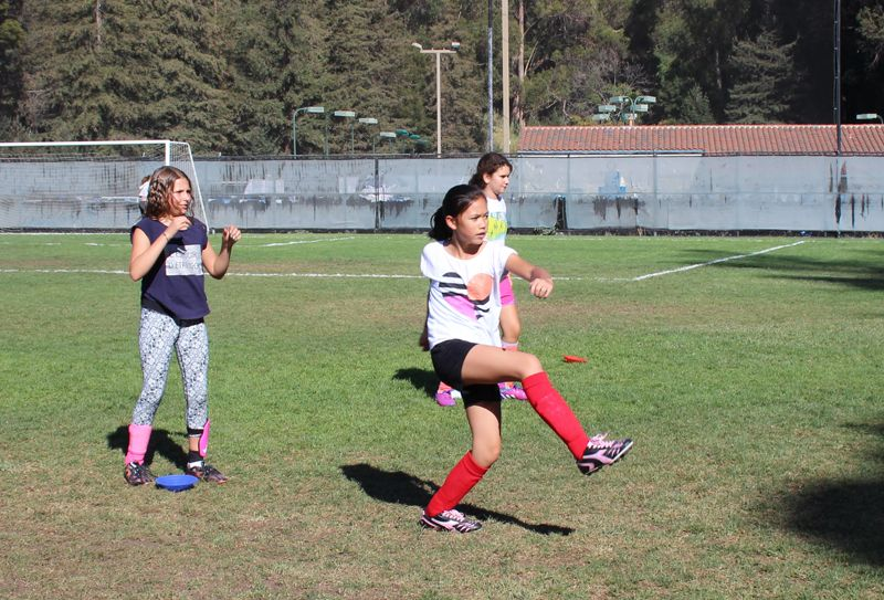 Our soccer season has begun! Girls learn and practice basic skills of the game.