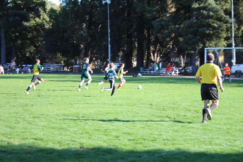 HERicanes soccer match vs. Redwood Day School. This shot leading up to the first goal of the game!