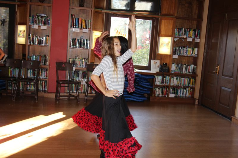 I was drawn to the music and was delighted by the sight of 6th graders immersed in their Flamenco dance class.