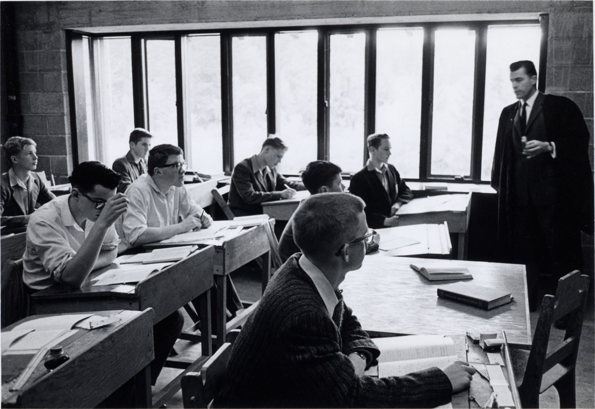 Headmaster E.R. (Ned) Larsen teaching, 1960