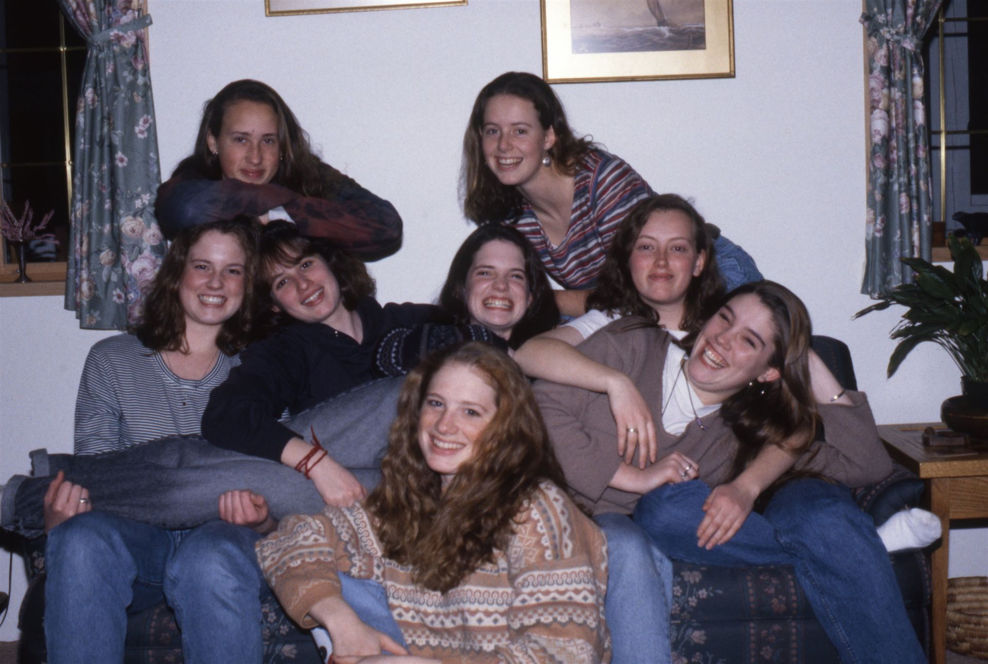 Group of first 5 year girl graduates, 1994