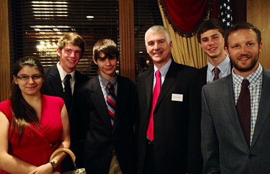 GSI students with Fred Fleitz, Center for Security Policy