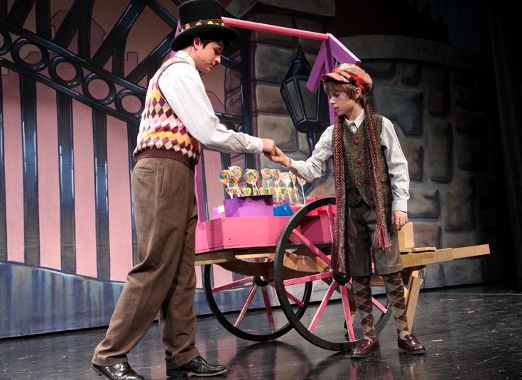 Charlie meets the Candy Man in 'Willy Wonka.'