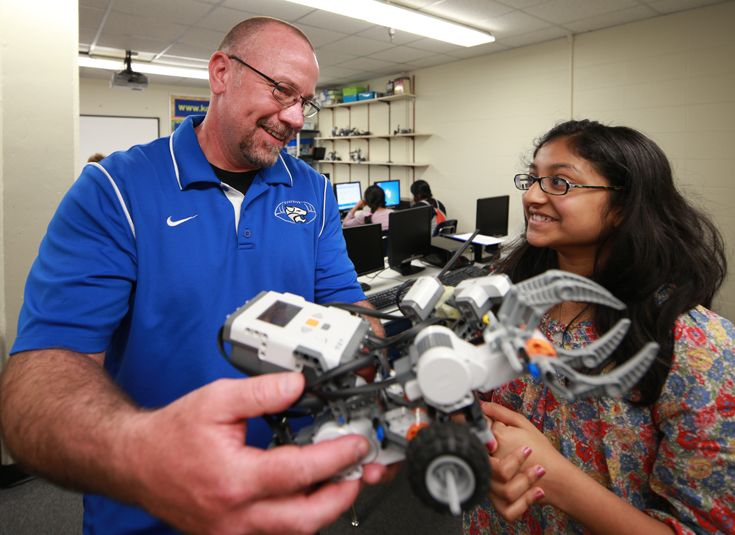 Robotics is part of the core curriculum for sixth and seventh grades.