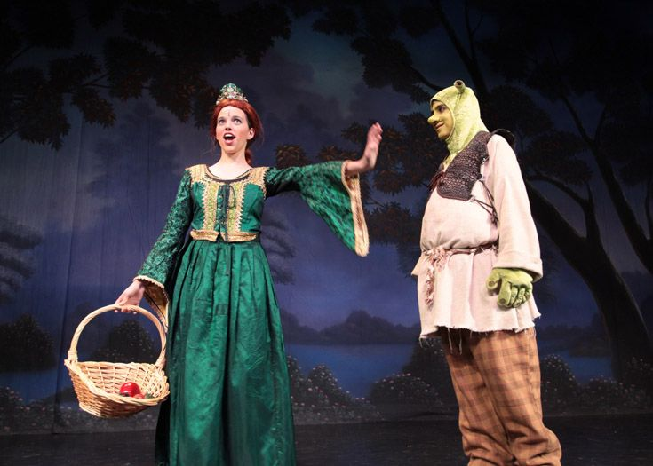 Middle school musical production of 'Shrek.'