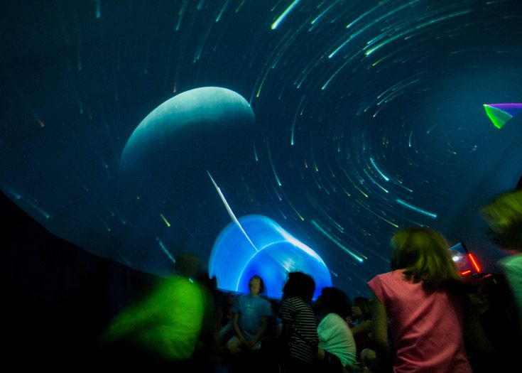 The Rauch Mobile Planetarium visits Lower School.