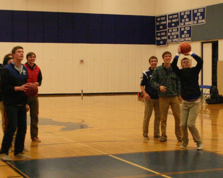 December 2014: Hoops Night! Alums came to cheer on the Mustangs and get a little court time themselves.