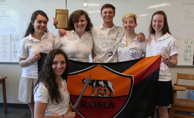 For the first time ever, Rice's senior team brought home the coveted UVM Latin Day probatio plaque.