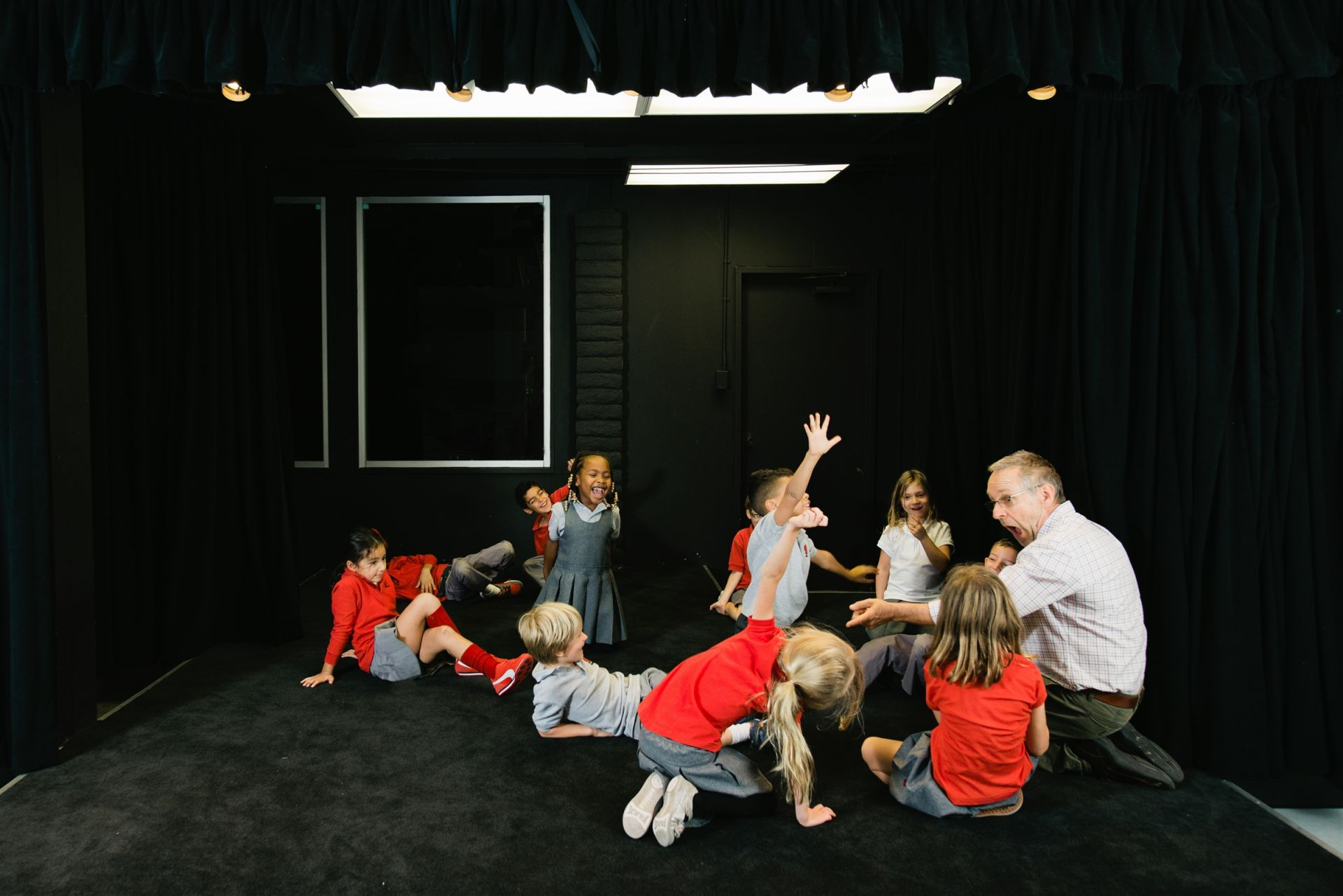 Students take theater starting in kindergarten in the Lower School Theatre.