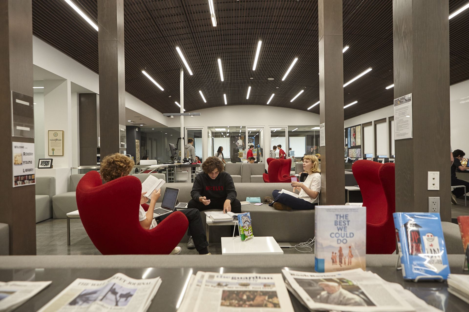 The Robert Young Library features both group and individual study spaces.