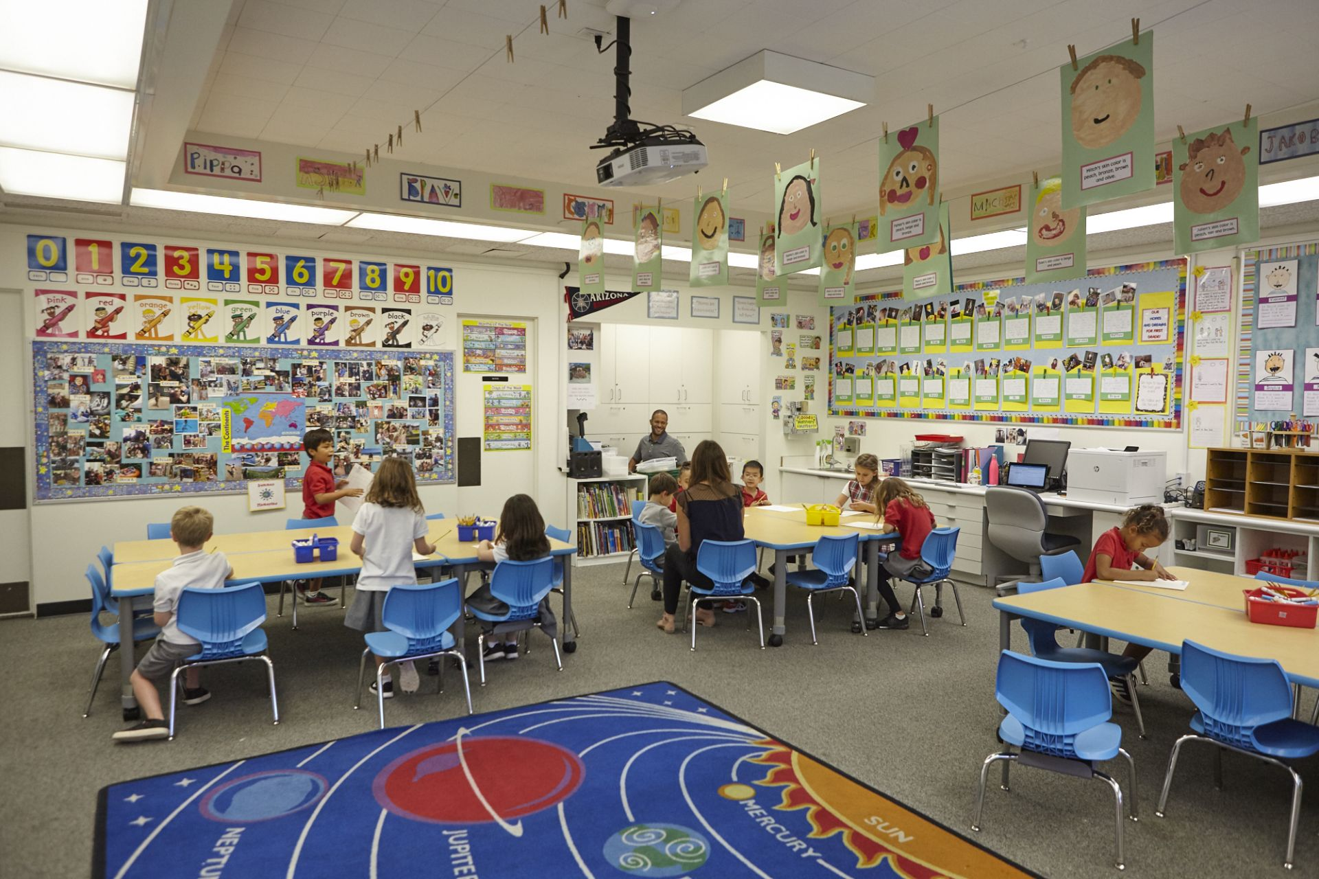 Lower School grade-level classrooms occupy the north portion of campus.
