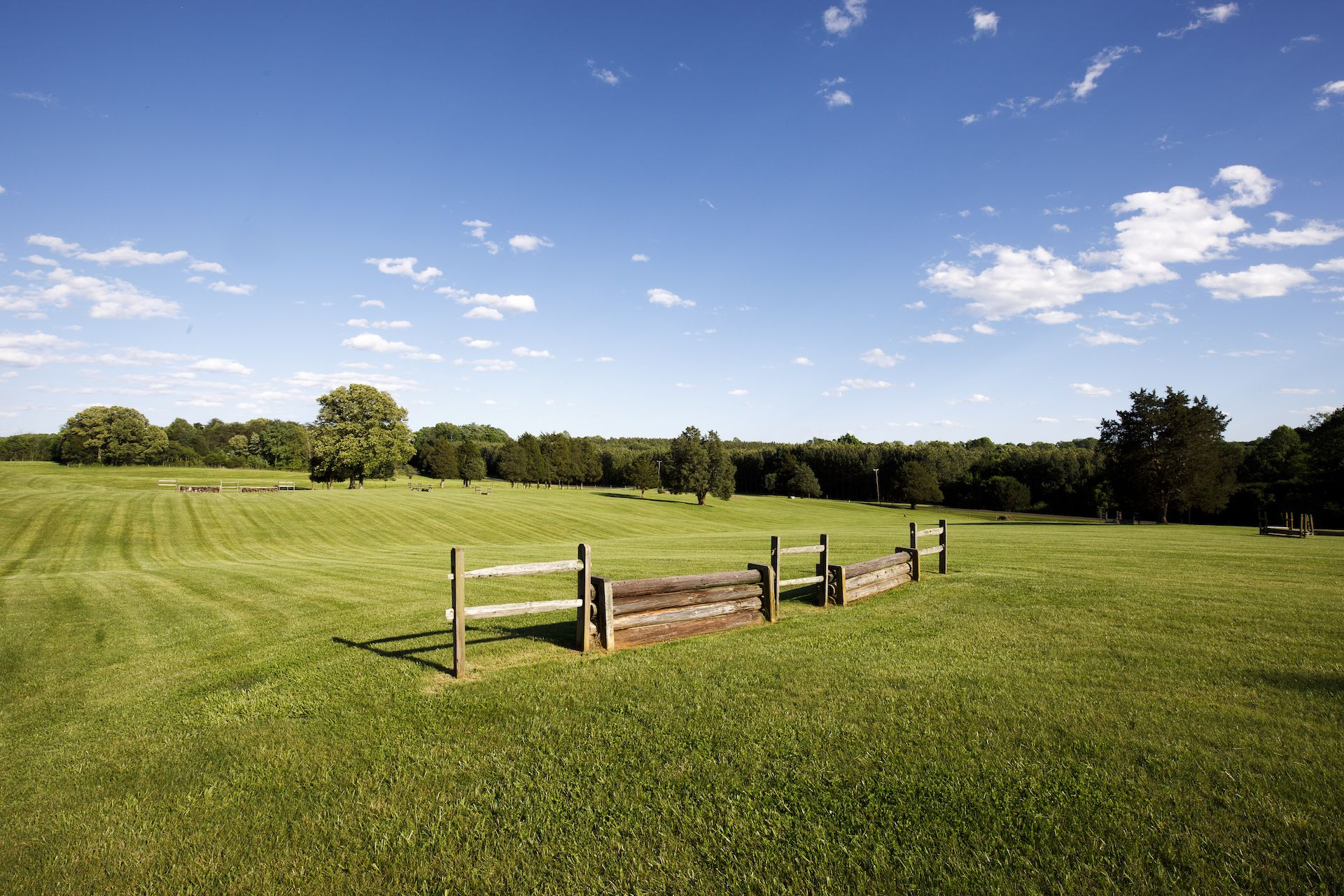 The permanent hunter trial field sits just below the soccer field and is used by the riding  department for a variety of lessons.