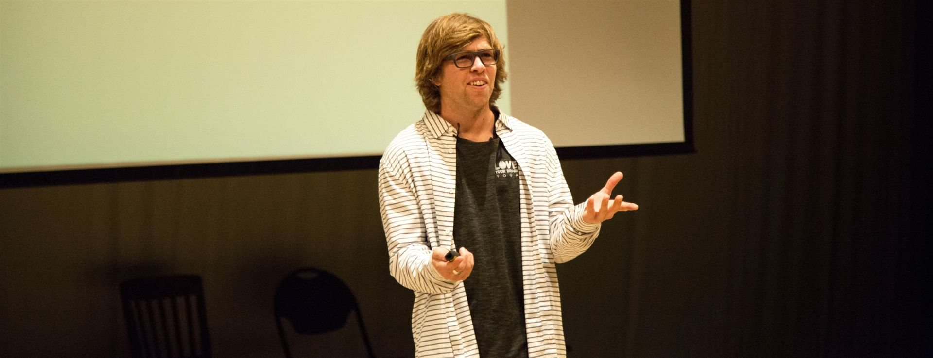 Kevin Pearce, a former professional snowboarder and traumatic brain injury survivor, addresses the Millbrook community in an all-school forum.