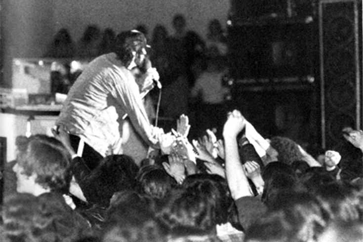 The J. Geils Band performs a concert at Xaverian.