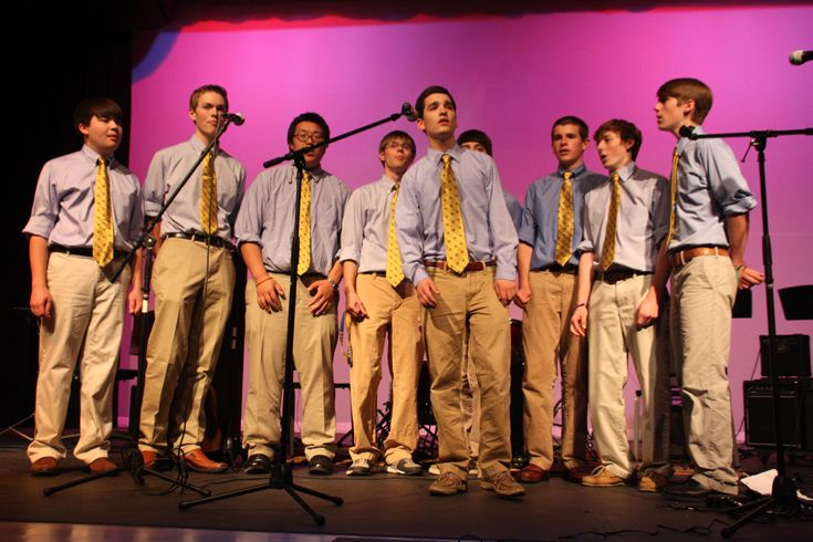 The X-Men starts, Xaverian's Acapella group.