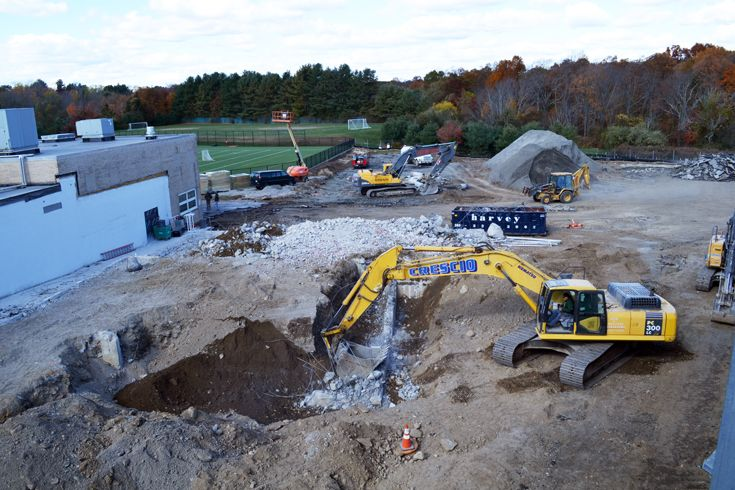 Campus improvements officially begin and are expected to be completed in fall 2014. They will include a new 32,500 square-foot Scholastic and Wellness Center, an additional classroom wing with science labs, new and renovated athletic facilities and fields, and additional parking.
