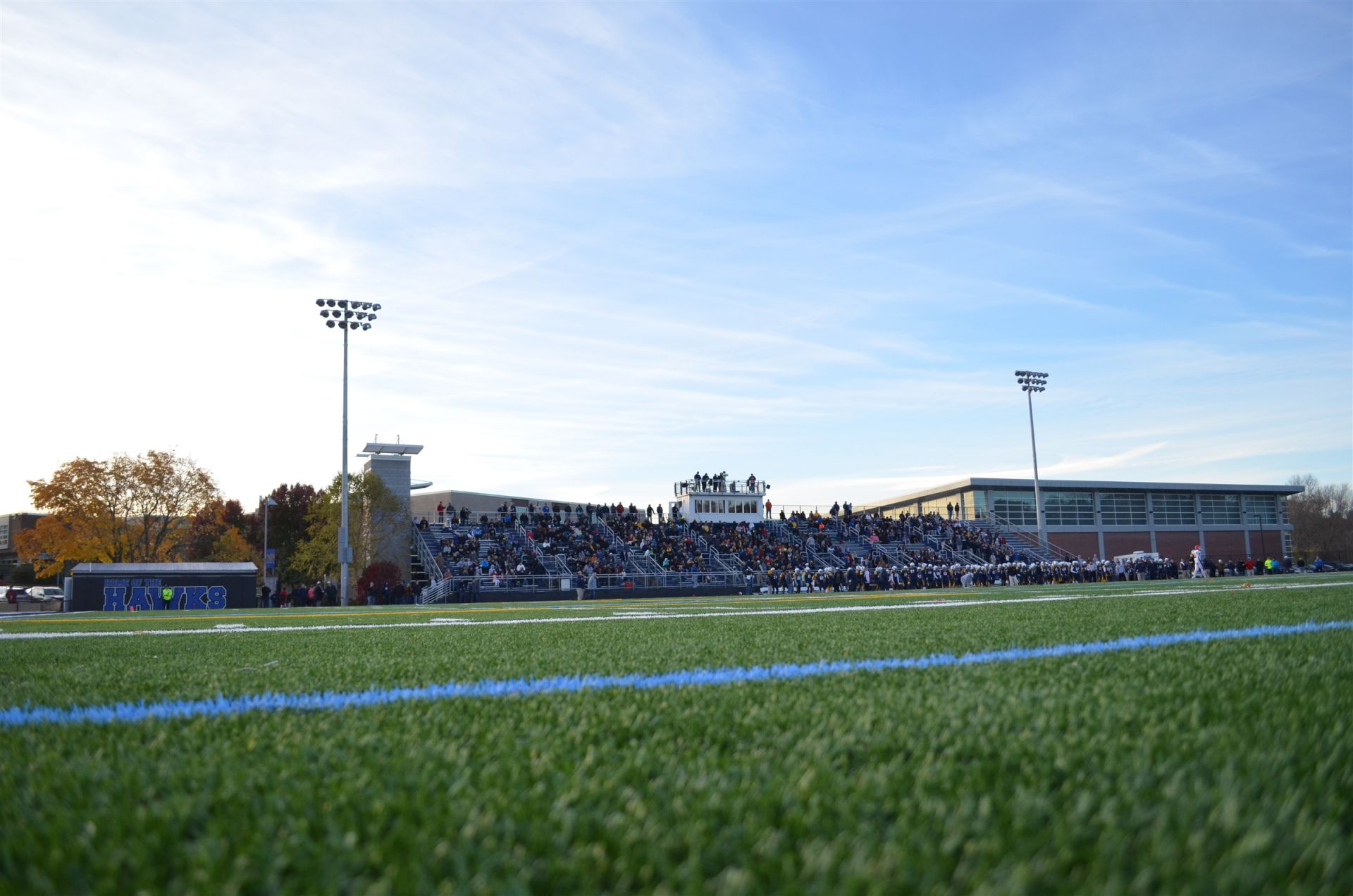 There are 4 full-size athletic fields on the Xaverian campus.