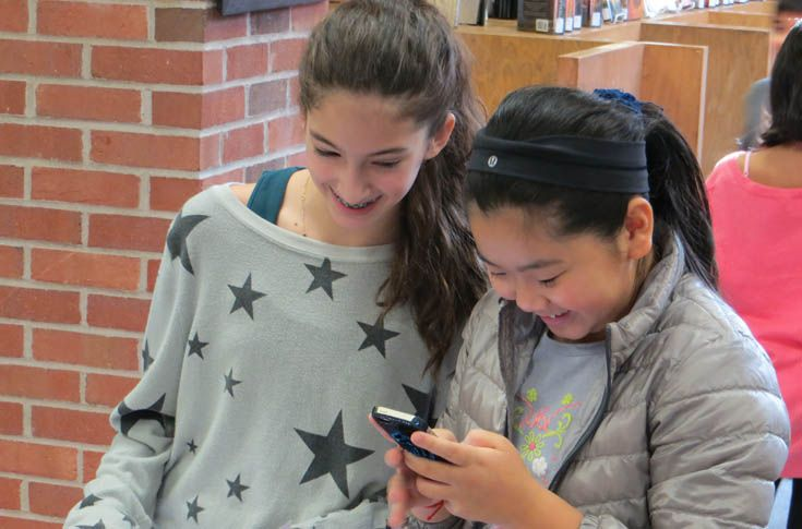 Sixth grade students develop technology projects based on their favorite books.