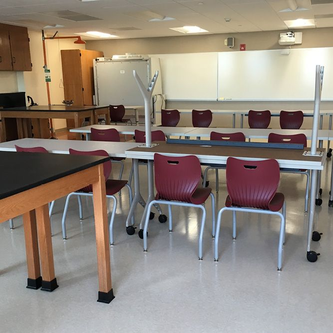 The Science Labs are complete and ready for classes. (August 9, 2016)